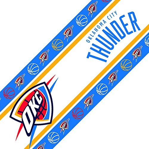 Set of 4 NBA Oklahoma City Thunder Wall Border Set Self-Stick Basketball Team Logo Borders ()