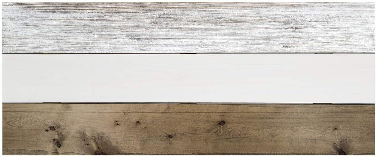 T/ête de Lit pour Chambre /à Coucher 80x60cm Ardoise Sherwood Forest avec des Baguettes Horizontales Bois de Pin Decowood