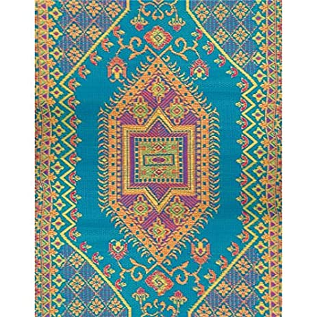 Amazon.com: Indoor Outdoor Rug Runner - 2.5\' X 8\' - Turkish Aqua ...