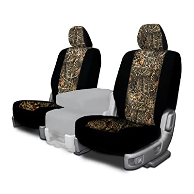 CarsCover Custom Fit 2009-2016 Dodge Ram 1500 2500 3500 Pickup Truck Wetsuit Neoprene Car Front Seat Covers Camo and Black Sides Driver & Passenger Cover Real Maple Forest Tree leaf Camouflage Covers: Automotive