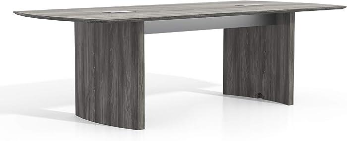 Safco Medina Table, 8', Gray Steel
