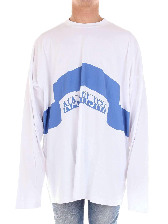 Brand Size L NAPA BY MARTINE pink Men's N0YHSUL11WHITE White Cotton TShirt