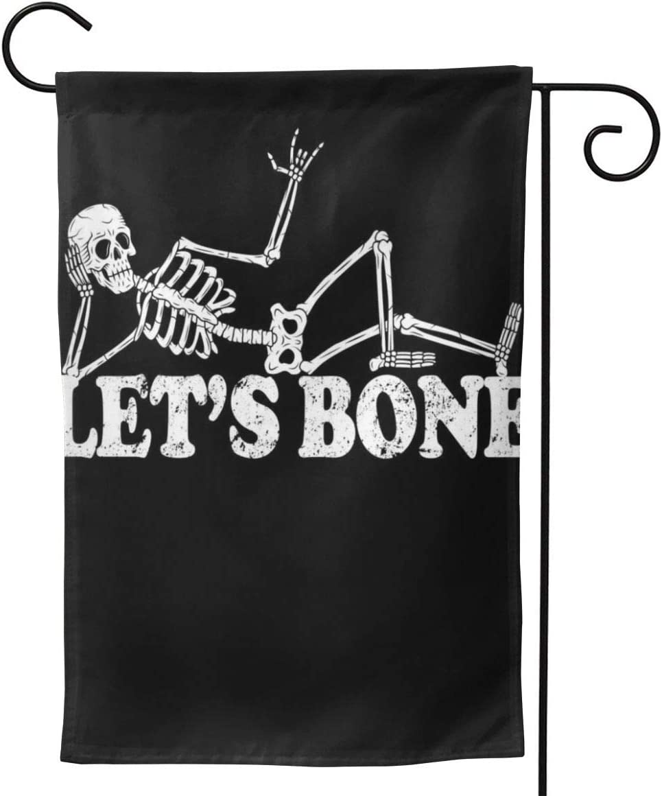 "2 Pcs Garden Flag Let's Bone Funny Offensive and Rude Horizontal Poster 12.5"""" X18-Mothers Day, Birthday Gifts for Mom, Dad, Wife, Husband, Daughters, Grandma, Friends"