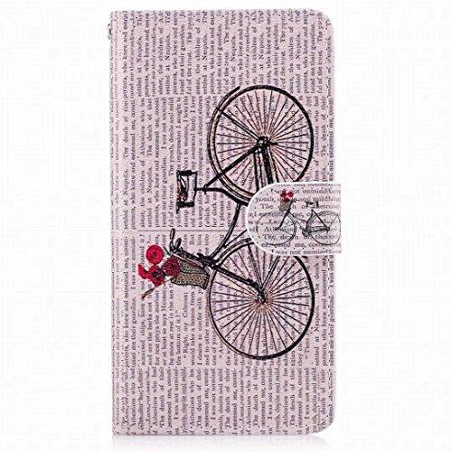 Custodie Apple IPhone X / IPhone 10 / IPhone Ten Cover, Yiizy Bicicletta Design Custodia Portafoglio Silicone Gomma Flip Cover Case PU Pelle Cuoio Copertura Case Slot Schede Cavalletto Stile Libro Bum