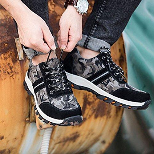 37 Acier Noir Baskets Travail Confortable Sécurité Femme en Homme Embout de Chaussure Chaussures de de Legere Protection UAqppx