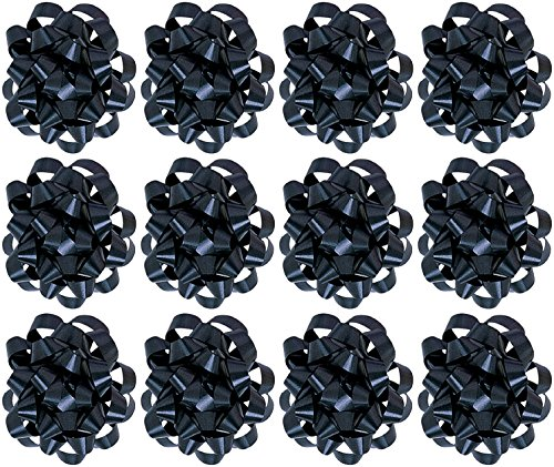 - The Gift Wrap Company  Decorative Confetti Gift Bows, Large, Black, pack of 12