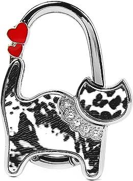 FaltbarTaschenhalter Handtaschenhalter Tasch Haken Tabelle Katzen Muster Pro