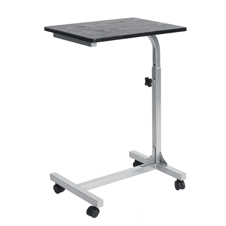coavas overbed table medical adjustable portable notebook desk sofa side table nursing reading foldable breakfast table