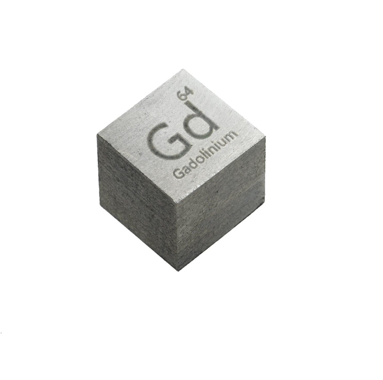 gadolinio Metal 10/mm Densidad cubo 99,9/% Pure