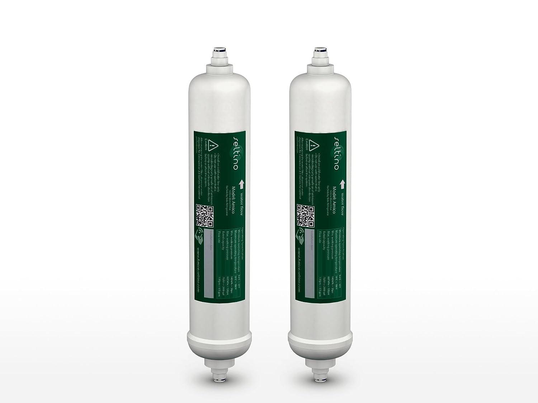 2 x Seltino AMICO - Samsung DA29-10105J HAFEX/EXP Filtro de agua para frigoríficos externo compatible; Para ajuste óptimo a LG, Daewoo, Bosch, Siemens y otros Seltino watter matters