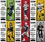 2017 Panini Contenders Season Ticket NFL Football Complete Mint 100 Card Basic Veteran Players Set Loaded with Stars including Tom Brady Carson Wentz Rob Gronkowski Myles Garrett Rookie Card and More