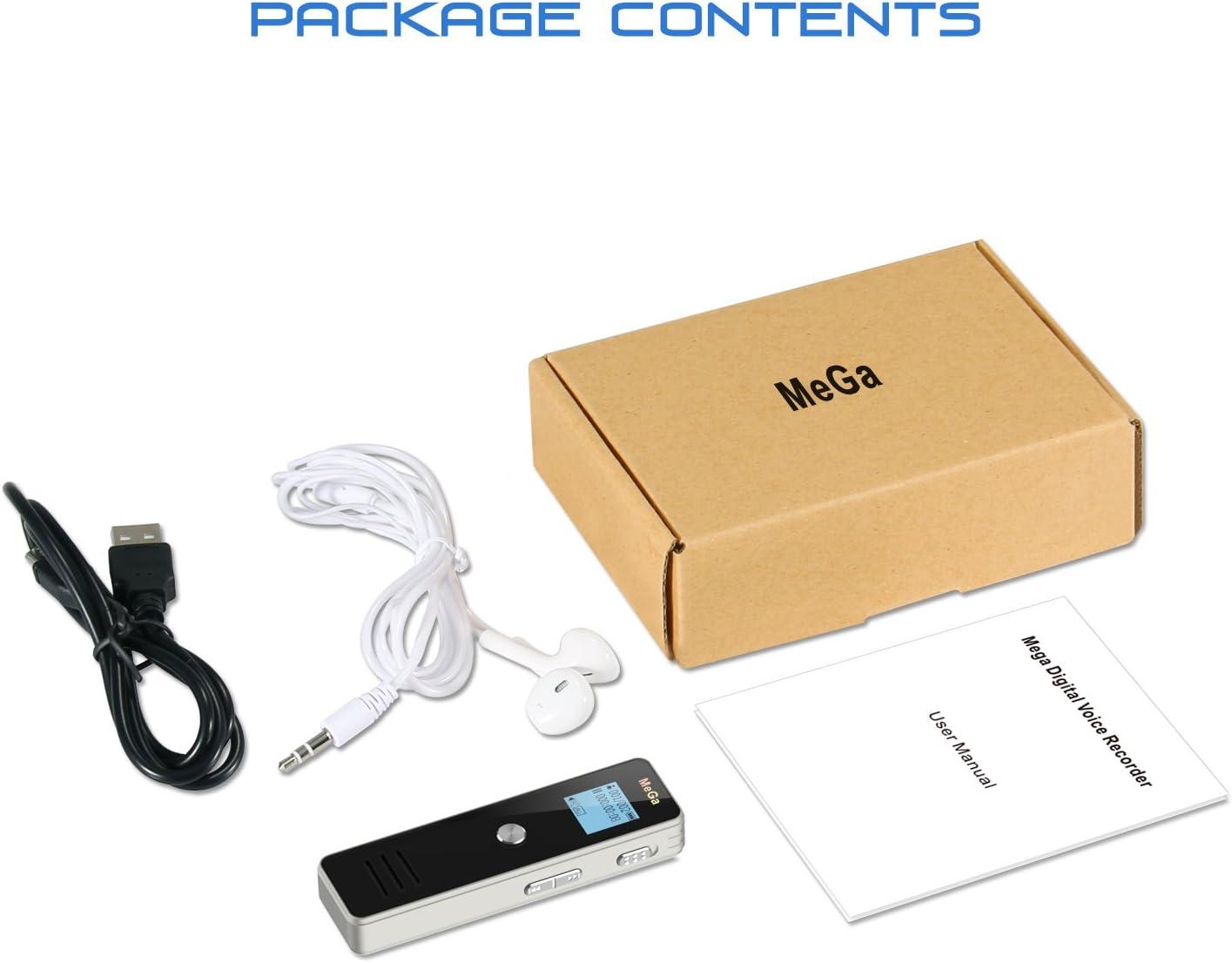 MeGa 8GB Digital Audio Sound Recorder Dictaphone Digital Voice ...