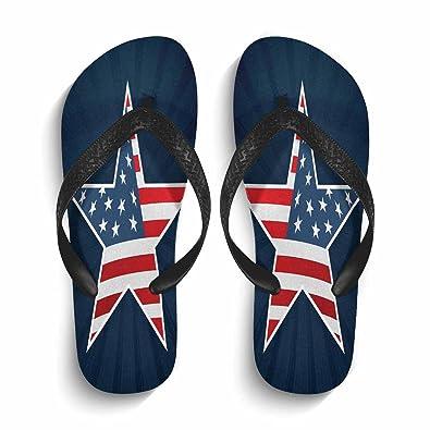 56d2fae379c8 Mens Flip Flops Non-Slip Lightweight Beach Pool Fashion Star Print Thong  Sandals Black
