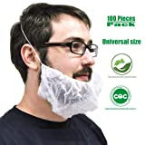 White Disposable Bouffant Beard Nets Cover 100