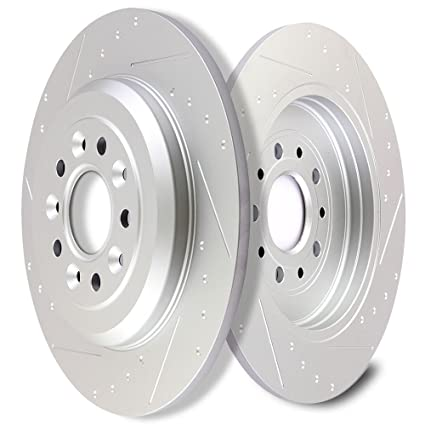 Scitoo Brakes Rotors Pcs Front Drilled Slotted Discs Brake Rotors Brakes Kit For