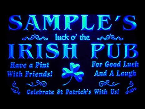 Amazon Com Advpro Qv Tm Name Personalized Custom Luck O The Irish Pub St Patrick S Neon Light Sig Home Kitchen