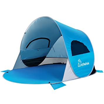 WolfWise UPF 50+ Easy Pop Up Beach Tent Instant Sun Shelter Tent Sunshade Baby Canopy  sc 1 st  Amazon.com & Amazon.com: WolfWise UPF 50+ Easy Pop Up Beach Tent Instant Sun ...
