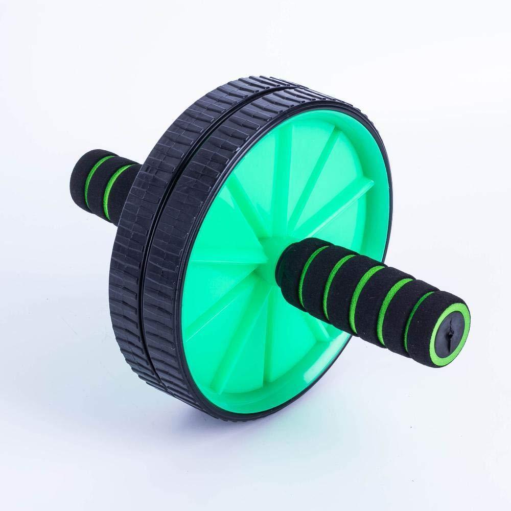 Olydmsky Wheel Bauchtrainer Stummschalten Sie Doppel-Bauch Runde Taille ABS Trainer Push Rad Abdominal-Gerät
