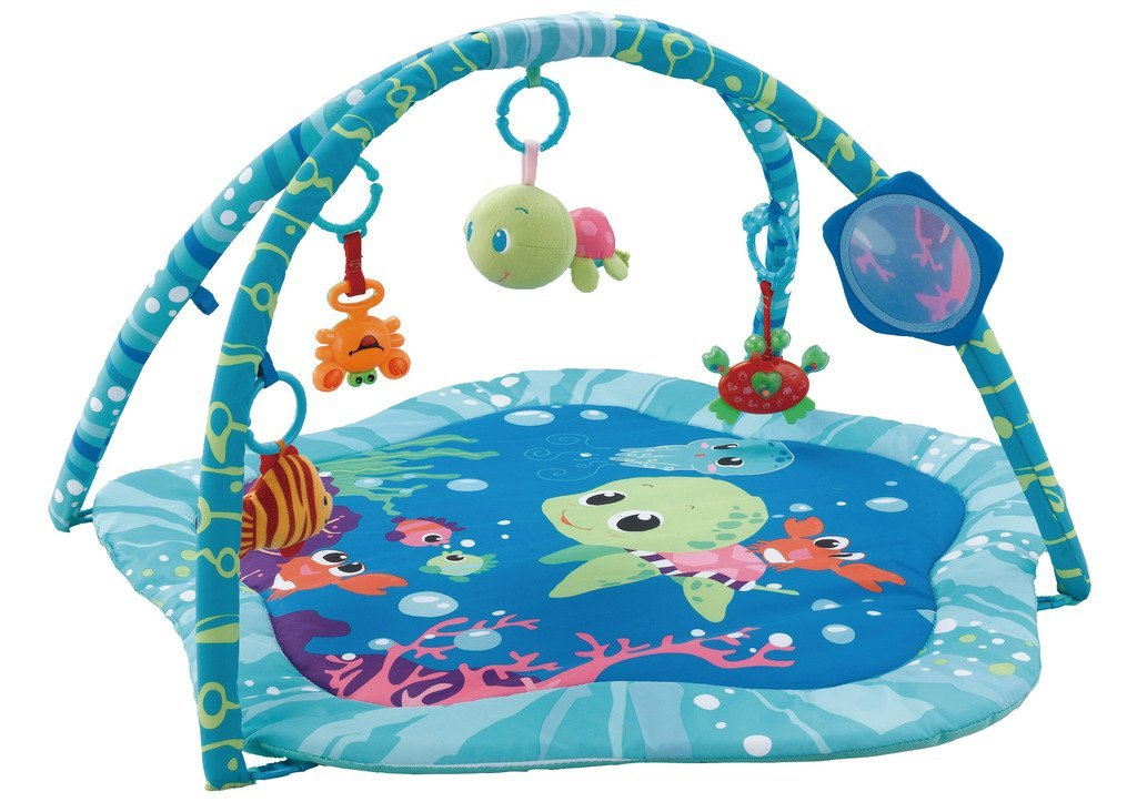 EMILYSTORES Princess Prince Baby Activity Play Gym Mats Ocean Park 30''x30'' by EMILYSTORES (Image #1)