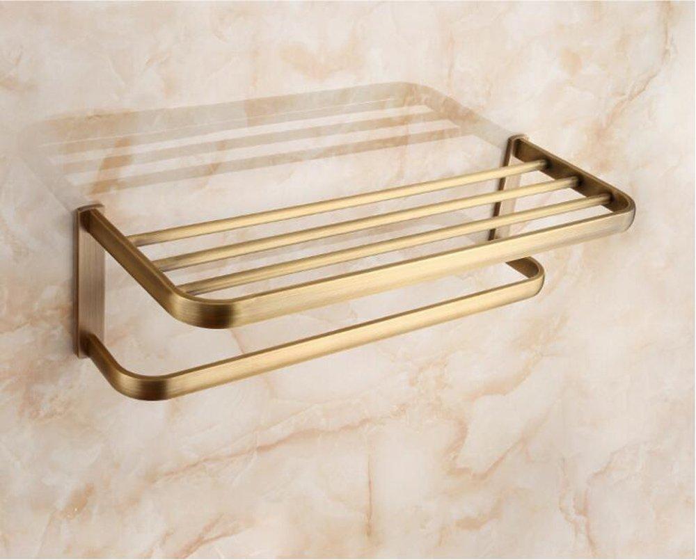 BBSLT Antique cuivre bronze Qing porte-serviettes chauffant - sèche-serviettes salle de bains style barre de serviette