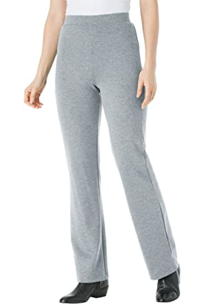 Womens Plus Size Pants Boot Cut In Ponte Knit At Amazon Womens