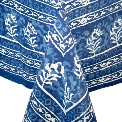 Hand made Dabu Block Print 100% Cotton Tablecloth 60x60 Square (100 Square Print)