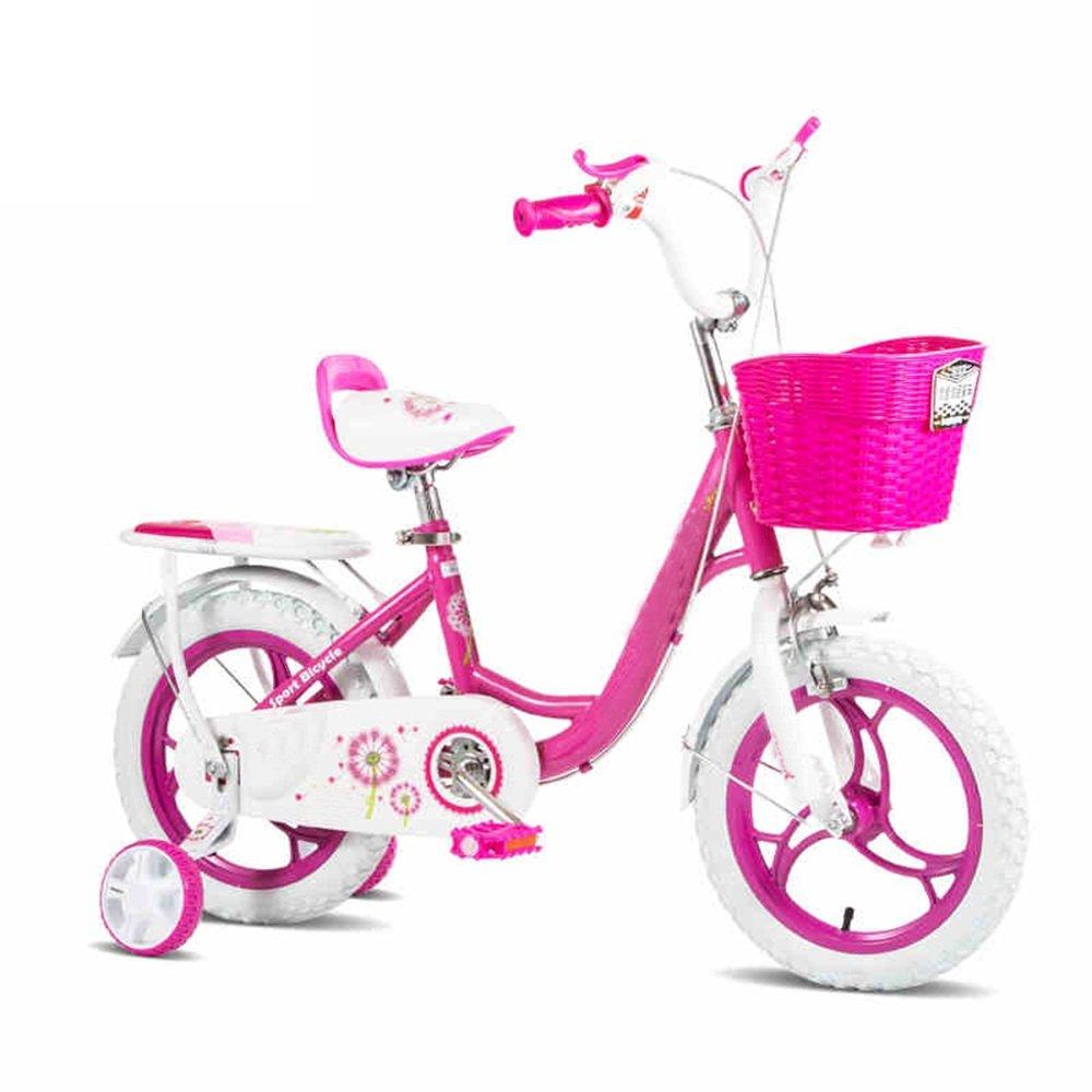 YANGFEI 子ども用自転車 ピンクと青の子供の自転車2~6歳の女の子の自転車12インチの赤ちゃんトロリー自転車 212歳 B07DWTQFBR 青 青