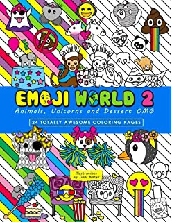 Emoji World 2 Coloring Book Animals Unicorns And Dessert OMG