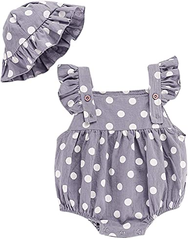 Polka Dot age newborn up to 9 months Baby Girls Cotton Short Sleeve Dress