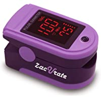 Zacurate Pro Series 500DL Fingertip Pulse Oximeter Blood Oxygen Saturation Monitor with Silicon Cover, Batteries and…