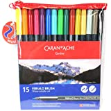 Caran d'Ache Fibralo Fibre-Tipped Brush Pens Set of 15
