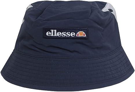 ELLESSE HAT CARLO REVERSIBLE BUCKET HAT IN NAVY AND LIGHT BLUE