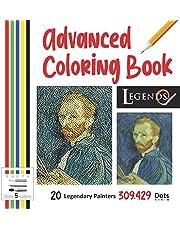 Advanced Coloring Book - Legends: 20 Legendary Painters 309.429 Dots, 5 Colors