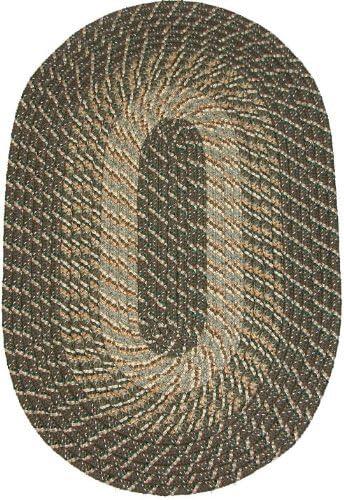 Constitution Rugs Plymouth 9 6 x 13 6 Braided Rug in Ponderosa Pine Medium Dark Olive Tones