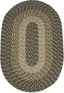 product image for Constitution Rugs Plymouth 8' x 11' Braided Rug in Ponderosa Pine (Medium/Dark Olive Tones)