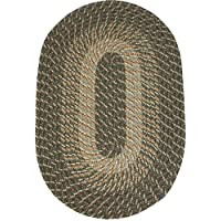 Plymouth 22 x 108 (Runner) Braided Rug in Ponderosa Pine (Medium/Dark Olive Tones)