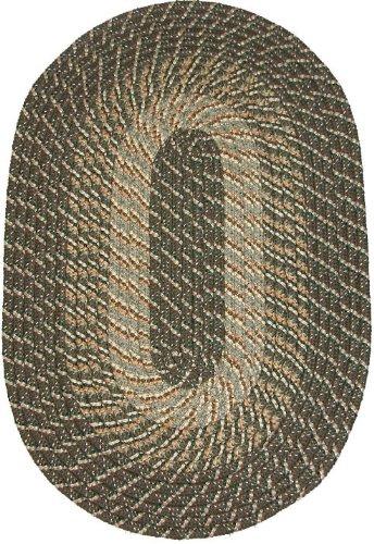 Constitution Rugs Plymouth 5' x 8' Braided Rug in Ponderosa Pine (Medium/Dark Olive Tones)