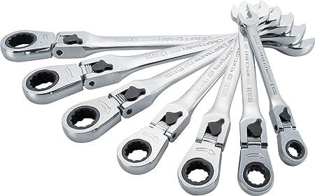 CRAFTSMAN HAND TOOLS 7pc FULL POLISH Long Beam SAE METRIC Combination Wrench Set