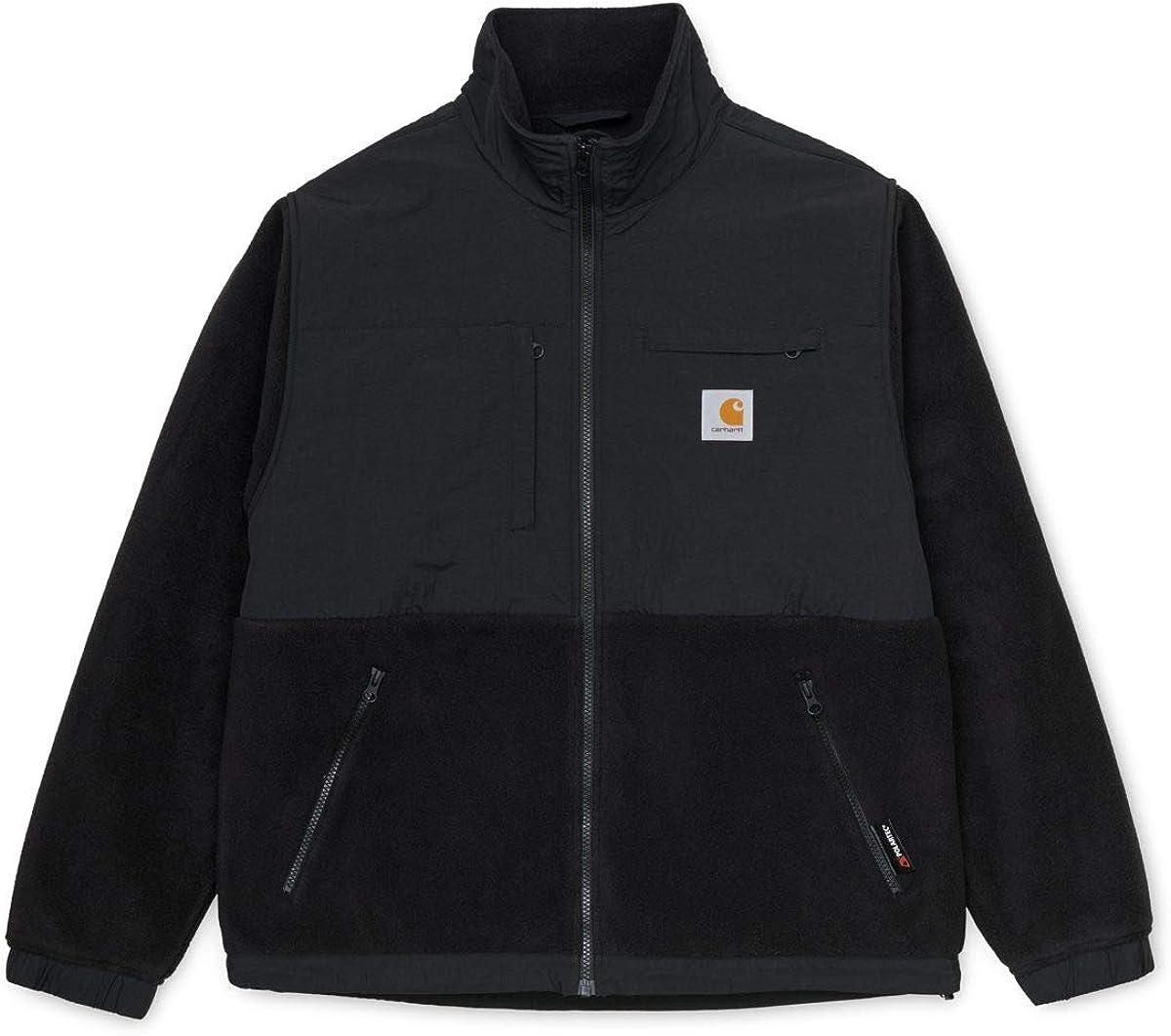 Carhartt WIP Polartec - Chaqueta de forro polar para hombre (talla S), color negro