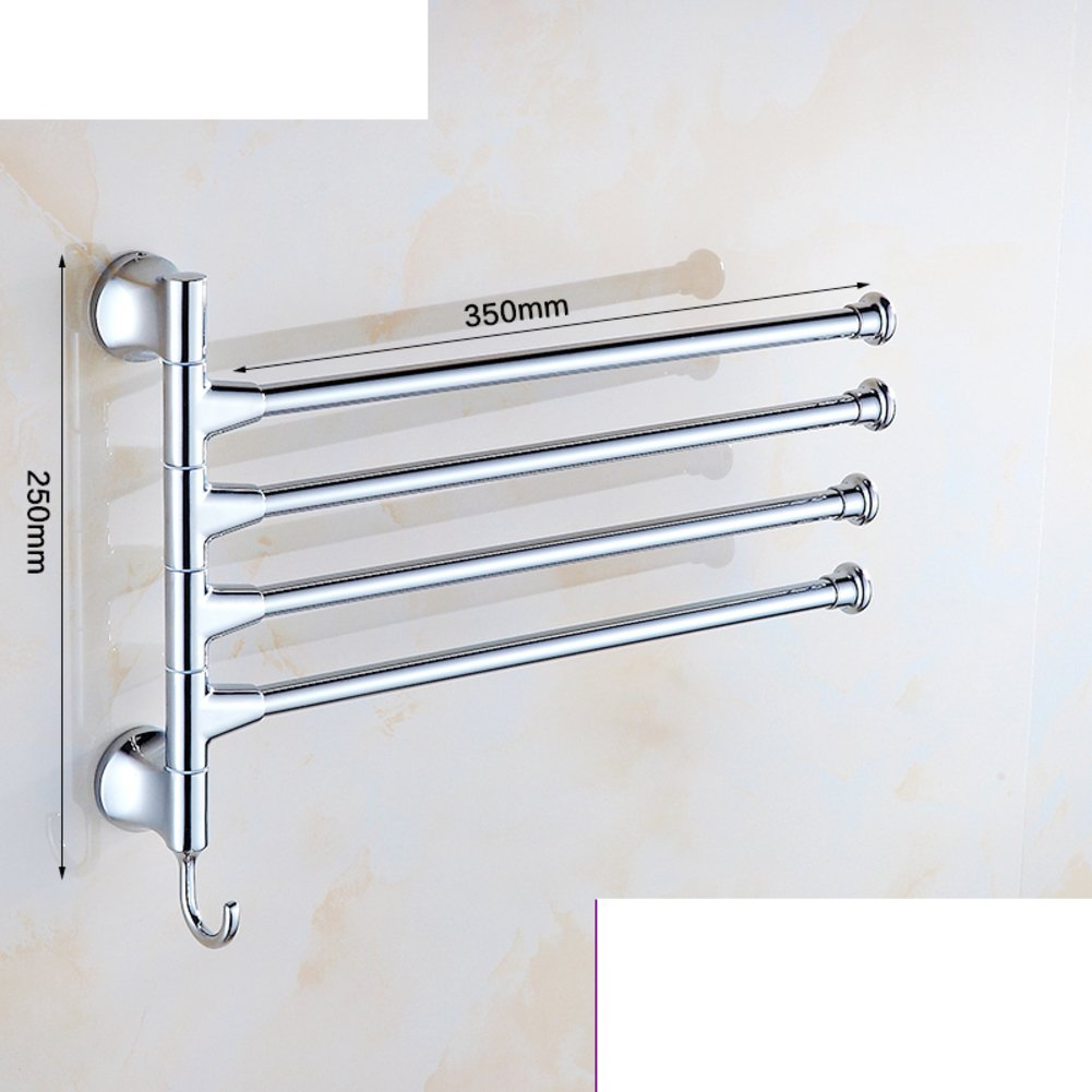 outlet Full rotating copper towel rack/Stainless steel/removable Towel Bar/Single bar/Double Towel Bar/The bathroom three or four-Q
