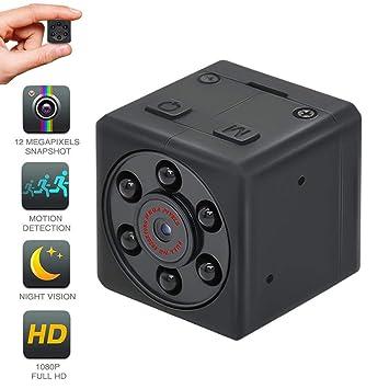 MD18 - Mini cámara espía de visión Nocturna, portátil, Monitor de Oficina Oculto 1080P, cámara Deportiva HD: Amazon.es: Informática