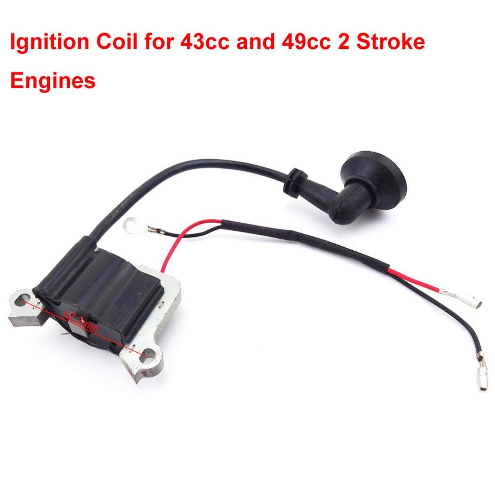 Xljoy Ignition Coil Spark Plug For 2 Stroke Minimoto Wiring Loom Harness Kill Switch 50cc 110cc 125 140 150 160cc Pit Pocket Bike Scooter 43cc 49cc Automotive