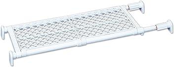 平安伸銅工業 突っ張り棚 強力タイプ メッシュ ホワイト 耐荷重50~30kg 幅73~112cm TAI-7