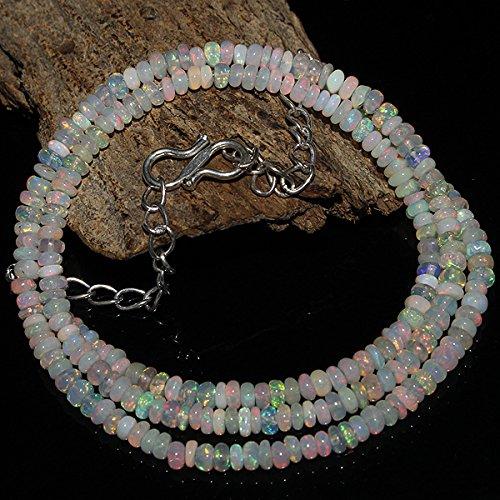 31 Carats Natural Ethiopian Welo Fire Beautiful Opal Rondelle Beads Gorgeous (Opal Rondelle Beads)