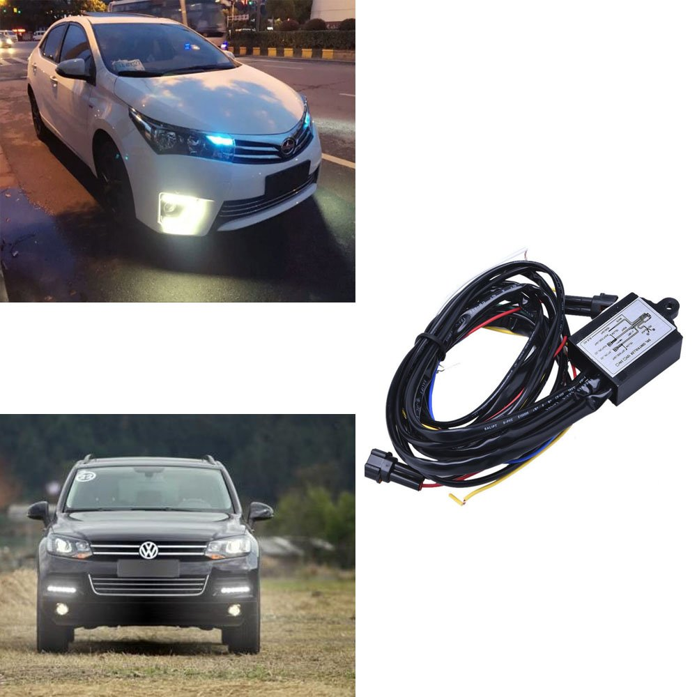 Wadoy Drl Controller 12v Daytime Running Light Relay Control Switch Opel Turn Signal Wiring Diagram Harness For Auto Car On Off Motorbike