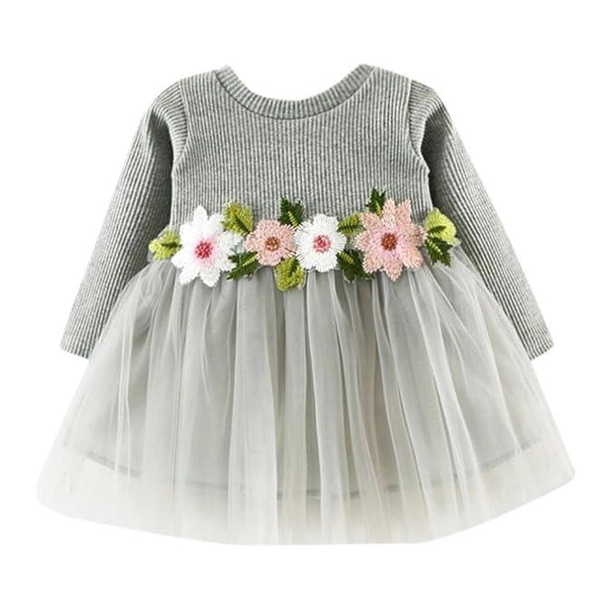 Amazon.com: fabal Cute bebé Baby Girl Floral Tutú Princesa ...