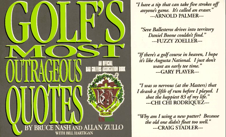 Golfs Most Outrageous Quotes Association product image