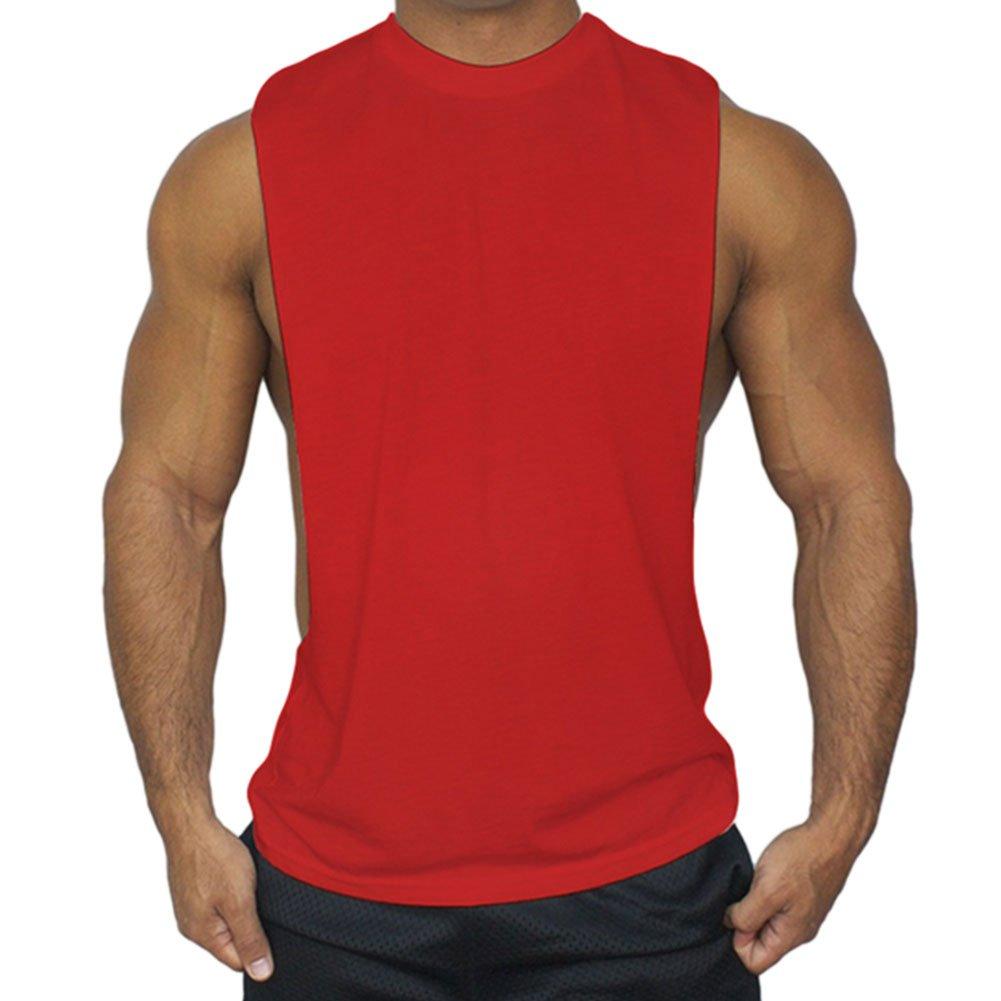 Meijunter Men Muscle Vest Sports Fitness Loose Tank Tops Sleeveless Undershirt Ltd.