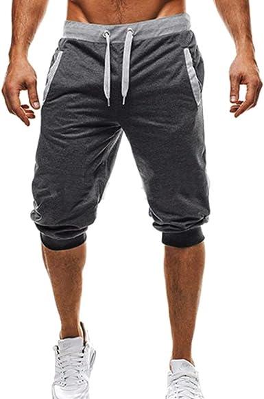 hibote Hombre Pantalones Cortos Deportivos - Moda Cintura ...