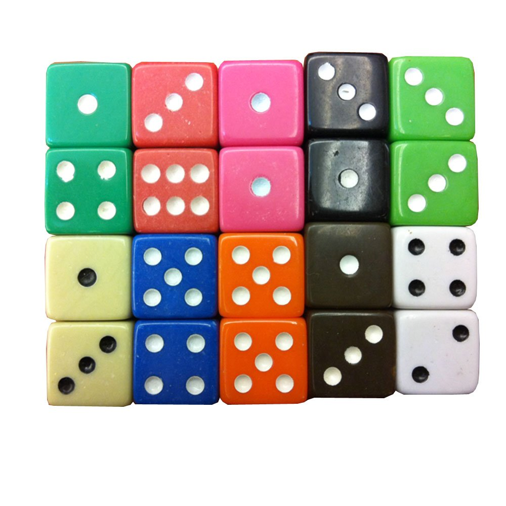 本物保証!  SmartDealsPro Six 50-Pack 16mm D6 Six Sided 16mm Opaque Dice Die-Random B00VWG7JPA Color B00VWG7JPA, 大喜賑(おおきに):8e2b2dbb --- egreensolutions.ca